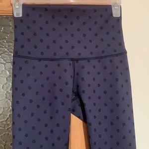 Lululemon polka dot leggings, size 4, EUC